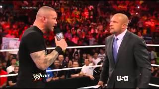 WWE RAW 7 21 14 Triple H, Randy Orton, Roman Reigns, Kane Segment