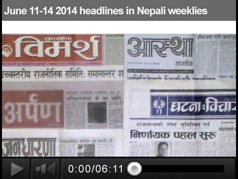June 11-14 2014 headlines in Nepali weeklies