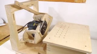 Pantorouter XL build: Table and template holder
