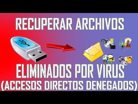 Como recuperar archivos eliminados de una memoria USB infectada por virus (sin programas)