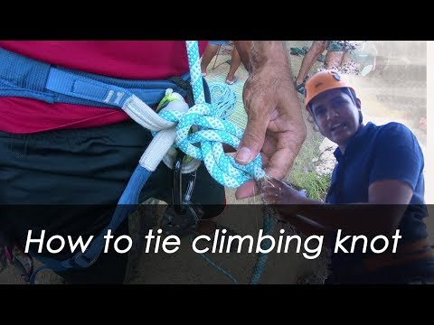 How to tie climbing knot