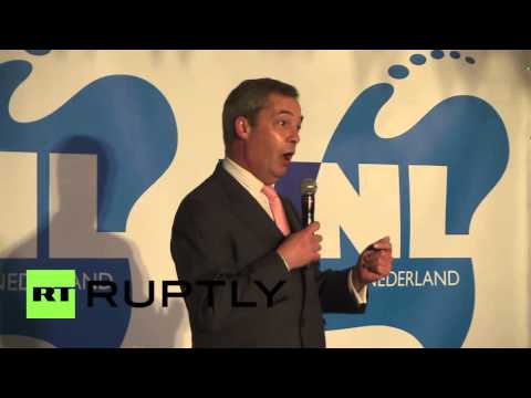 The Netherlands: UKIP leader Farage supports no vote ahead of Ukraine referendum