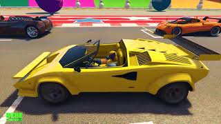Learn Colors with Race Cars for Kids   Animation Superheroes for Toddlers