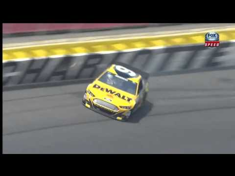NASCAR Sprint Cup Series All Star Race Practice 2013: Marcos Ambrose Hits Wall
