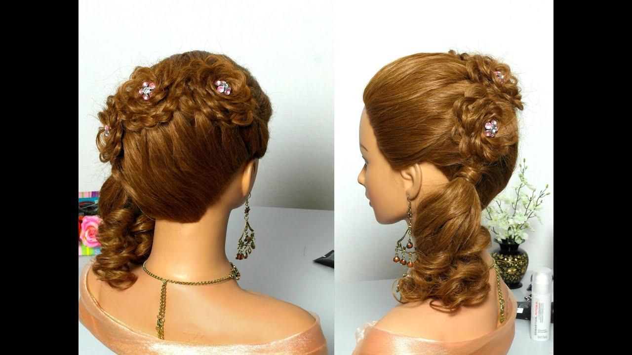 Праздничные прически для длинных волос для девочки фото