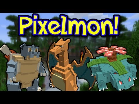 PIXELMON MOD! POKEMON IN MINECRAFT! (1.6.4)