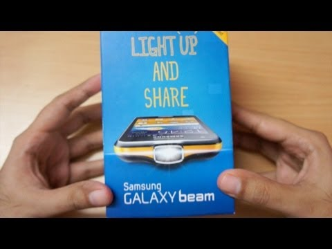 Galaxy Beam Projector Android Phone Unboxing & Hands On