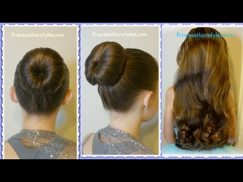 The Perfect Bun and No-Heat Curls. Dance Hairstyle Tutorial. Review