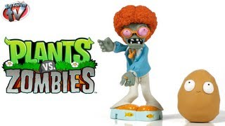Plants vs Zombies Fun-Dead Disco Zombie & Wall-nut Figures Toy Review, Jazwares