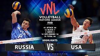 Russia vs USA   Highlights Men's VNL 2019