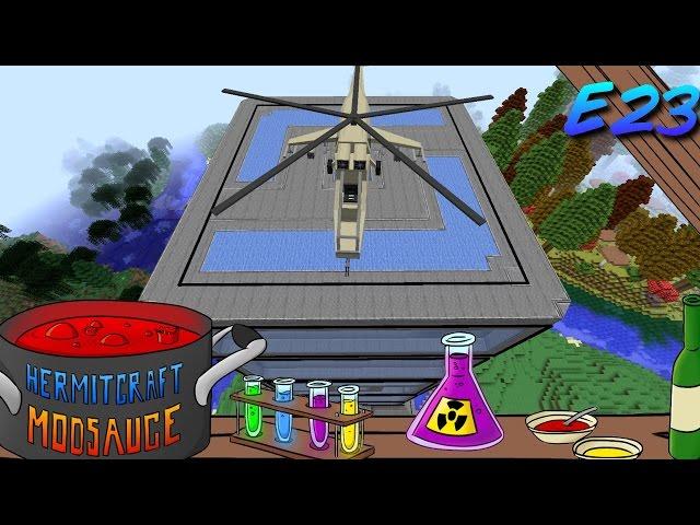 Minecraft Mods - ModSauce - Helipad FTW! ( Hermitcraft Modded Minecraft E24 )