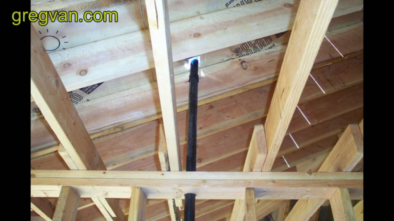 Attic Plumbing Vent Home Building Youtube