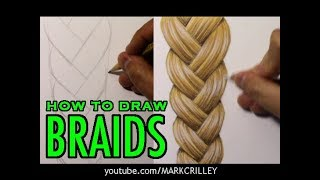 How to Draw Braids: Full Color [Narrated Tutorial]