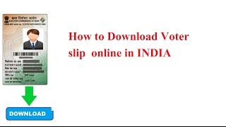 How To Download Voter ID Card Online In INDIA VideoMp4Mp3.Com
