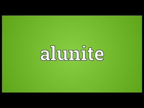 Header of alunite