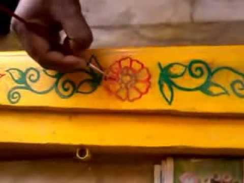 Gadapa muggu video 13 youtube for Door rangoli design images new