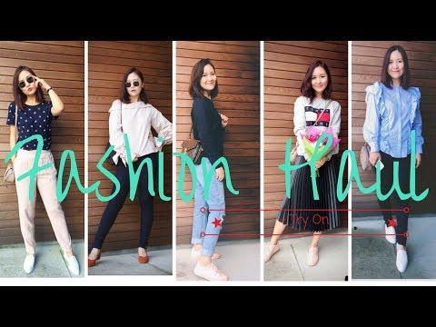 服飾包包開箱+ Try On分享   Unboxing Fashion Haul   HIBARBIE