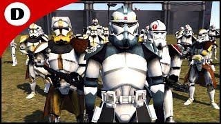 COMMANDER WOLFFE RESCUES CLONE COMMANDERS! - Men of War: Star Wars Mod