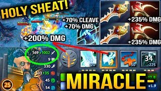 Miracle- is going CRAZY with Kunkka Splash DAMAGES Dota 2