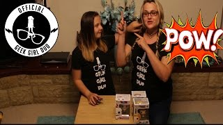 Pop In A Box | Pop Vinyl Un Boxing | Peek A Box ! | Geek Girl Duo