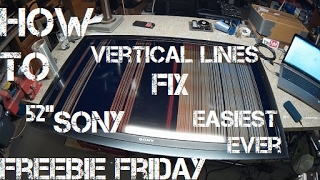 """Freebie Friday Ep3 52"""" Sony Vertical Lines Fix Easiest Ever"""