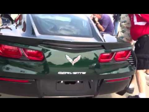 Lime Rock Green Stingray - Unloading