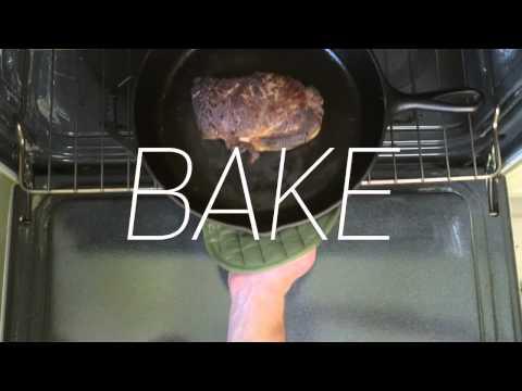 Как готовить стейк на чугунной сковороде Lodge?