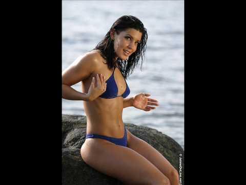 Hot girl JK blue bikini