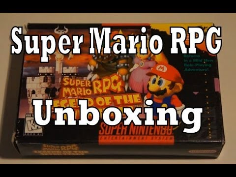 Super Mario RPG Legend of the Seven Stars Unboxing & Review (Super Nintendo)