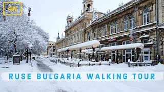 Ruse, Bulgaria | Walking in the City after a heavy snowfall 4K