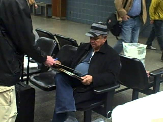 Cheech Marin of Cheech and Chong signing autographs