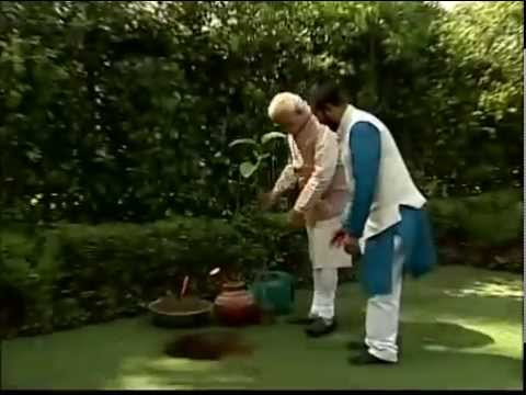 World Environment Day : PM Shri Narendra Modi plants sapling at his official residence