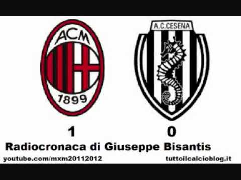 MILAN-CESENA 1-0 – Radiocronaca di Giuseppe Bisantis (24/9/2011) da Radiouno RAI