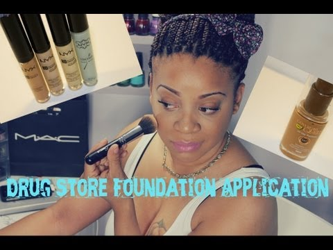 Flawless Drug Store Foundation Application ( to Cover Acne)