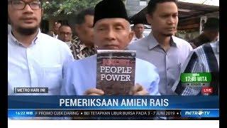 Amien Rais Bawa Buku 'Jokowi People Power' saat Diperiksa