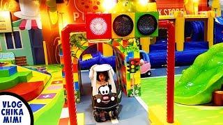 Mandi Bola Mobil Anak Lucu Odong Odong Taman Bermain Playground Wheels On The Bus Ayunan Perosotan