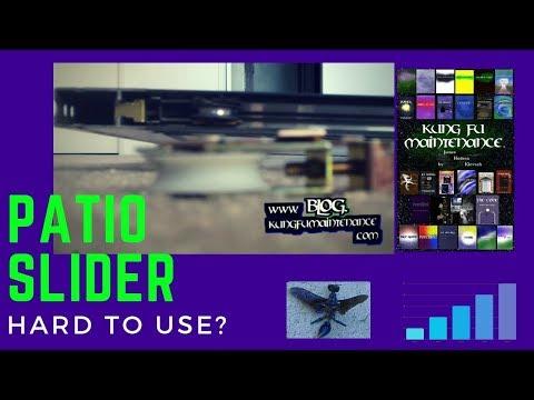 How To Replace Patio Slider Door Wheels - YouTube