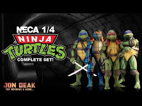 NECA - 1/4 NINJA TURTLES - COMPARISON