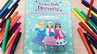 Đồ chơi dán hình sáng tạo trang phục búp bê - Tập 12 giáng sinh hạnh phúc - Sticker Doll (Chim Xinh)