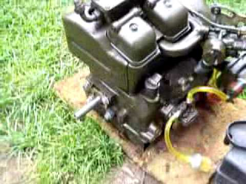 Briggs And Stratton Engine >> military spec twin cylinder 3 hp gas engine - YouTube