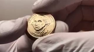 President Dollar Coin Roll Search - Possible Rare Errors & Variety Hunt George Washington Gold!!