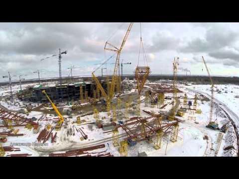 На стадионе #Самара - Арена стартовал монтаж купола #Samara