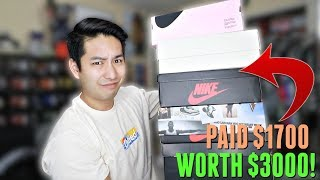 I Paid $1,700 For $3,000 Worth of HYPE Jordans, Nikes, & More!