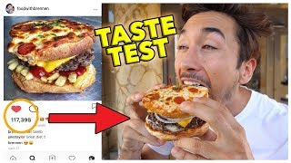 Eating Instagram Famous Food Trends (Taste Test)