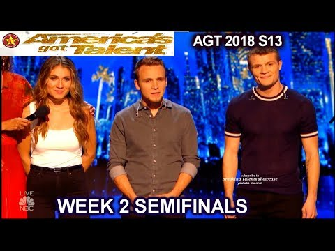 "Download  We Three sing FUN Original Song ""Make Up"" JUDGES DIVIDED Semi-Finals 2 America's Got Talent 2018 AGT Gratis, download lagu terbaru"