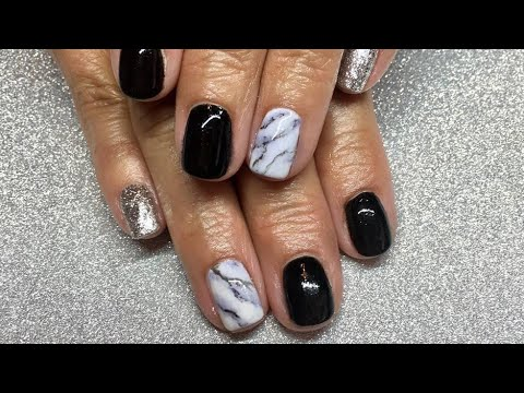 Add Strength to Natural Nail with Gel Polish & Acrylic Powder/Marble Nails