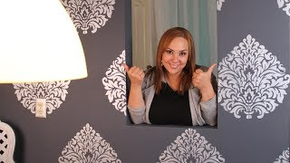 Pinta como papel tapiz/ How to make your wall look like it has wall paper
