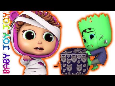 Pop Goes the Weasel | Halloween Surprises | 5 Little Babies