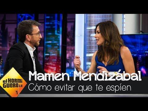 Mamen Mendizábal desvela las medidas para evitar que le espíen - El Hormiguero 3.0