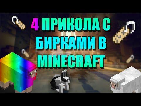 4 интересных прикола с бирками в minecraft